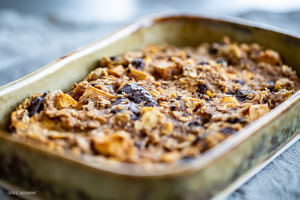 easy vegan flapjack pudding