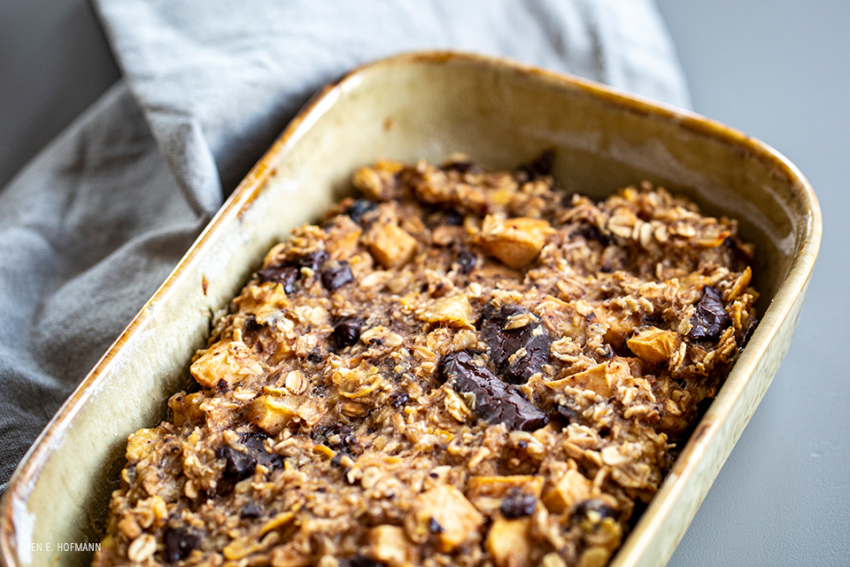 vegan flapjack pudding